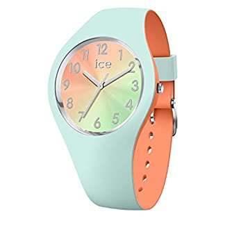 Ice-Watch-ICE-duo-chic-Aqua-coral-Grne-Damenuhr-mit-Silikonarmband-016981-Small