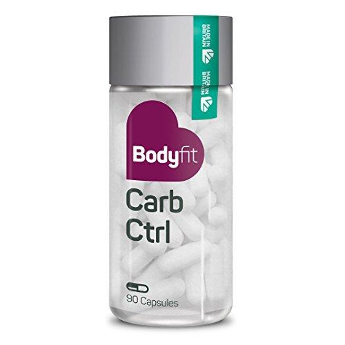 Abnehmen ohne Sport – Bodyfit Carb Ctrl – natürliche Kohlenhydratblocker Kapseln I Nahrungsergänzungsmittel Diät Kapseln Carb Blocker Appetit Control I 90 vegane und vegetarische Kapseln