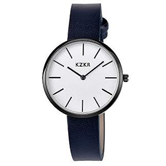 Armbanduhren-Damen-Lederband-Blau-Quarzuhr-Anolog-Armbanduhren-fr-Frauen-Klassisch-Armbanduhr-Damen-Uhr-Leder-Armband-Lederarmband-Lederband-braun-Quarz-Herrenuhr-Damenuhr-Ultra-flach-dnn