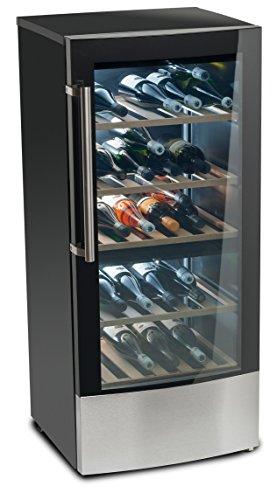 MEDION-MD-37104-Weinkhlschrank-181-Liter-Fassungsvermgen-beleuchtetes-LED-Display-regulierbare-Temperatur-zwischen-5C-20C-EEK-A-schwarz