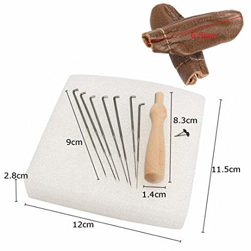 Filzwolle 20 Farben + Filznadeln Werkzeug Nadel Filzen Matte Starter Tool Kit