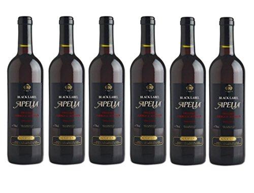 6x-Apelia-Black-Label-750-ml-Rotwein-lieblich-115-2-Probier-Sachets-Olivenl-aus-Kreta-a-10-ml-griechischer-roter-Wein