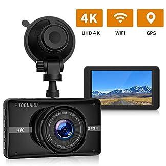 TOGUARD-Auto-Dashcam-4K-Ultra-HD-mit-GPS-WIFI-Autokamera-Video-Recorder-mit-170Weitwinkelobjektiv-3-LCD-Bildschirm-Armaturenbrett-Kamera-170Weitwinkel-Parkmonitor-Schleifenaufzeichnung-G-Sensor