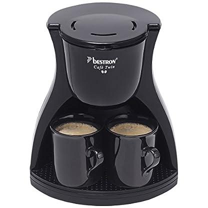Bestron-acm8007be-Twin-Kaffeemaschine-mit-2-Tassen-schwarz-450-W