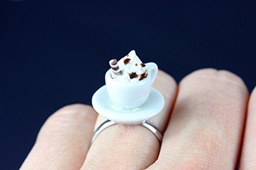 Miniblings Kakao Ring Tasse Fingerring Tassenring Kaffee Kakao heiße Schokolade