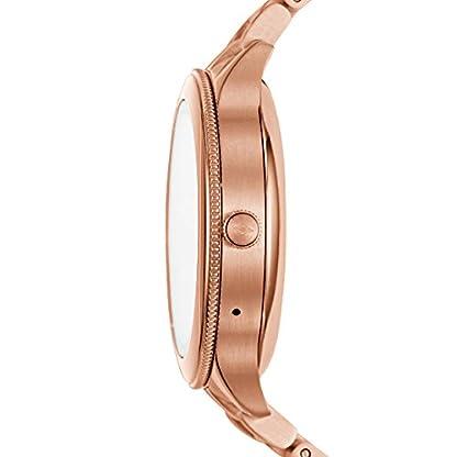 Fossil-Damen-Smartwatch-Q-Venture-3-Generation-Edelstahl-Rosgold-Elegante-moderne-Frauen-Smartwatch-Fr-Android-iOS