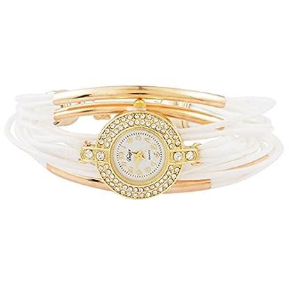 Souarts-Damen-Armbanduhr-Geflochten-Armband-Bohemian-Stil-Deko-Uhr-mit-Batterie-Charm-Geschenk