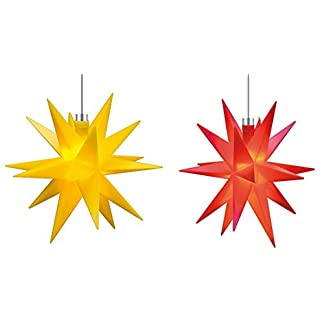 Mini-Dekostern-LED-2er-Set-Gelb-Rot-Wei-18-Zack-Batterie-Kunststoffstern-Leuchtender-Stern-Innen-Auen-Weihnachtsdekoration