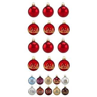 Thringer-Glas-Design-Glas-Sortiment-Uni-je-12-Kugeln-in-4-und-6-cm-6-Kugeln-in-8-cm-4-farbig