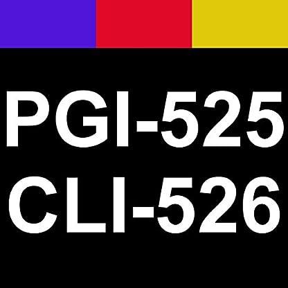 10-Druckerpatronen-fr-Canon-mit-Chip-ersetzt-PGI-525BK-schwarz-CLI-526BK-schwarz-CLI-526C-cyan-CLI-526M-rot-CLI-526Y-gelb
