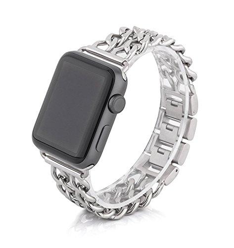 Clever Elegantes Armband Für Apple Watch 38mm Edelstahlarmband Gliederarmband Rosègold Handys & Kommunikation Smartwatch-zubehör