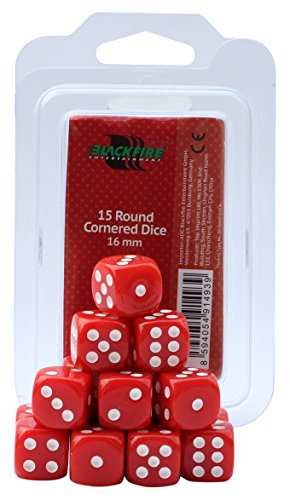 ADC-Blackfire-Entertainment-91493-Wrfel-16-mm-D6-Dice-Set-15-Stck-rot