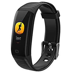 A-Artist-Fitness-Trackers-Armband-Smartwatch-Damen-Herren-Schrittzhler-Fitnessuhr-Wasserdicht-IP67-Vibrationsalarm-Whatsapp-Facebook-Twitter-Anruf-SMS-Beachten-mit-iOS-Android-Schwarz