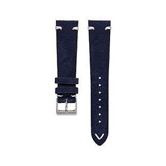 WatchBandit-Wildleder-Uhrarmband-Vintage-Navyblau-WB-Original-18-22-mm