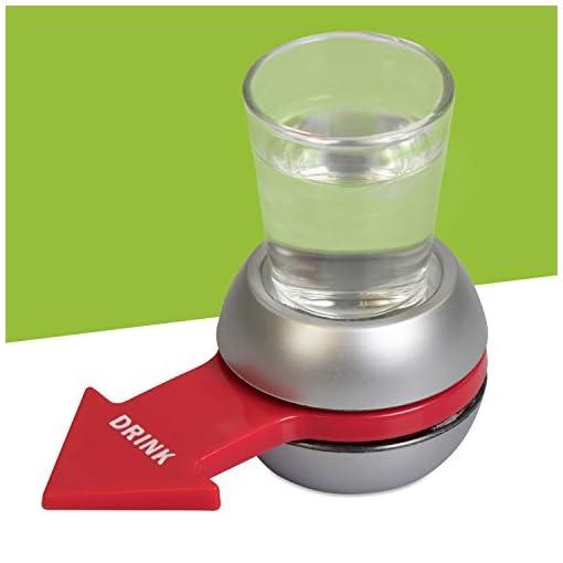 Grinscard-Trinkspiel-mit-Schnapsglas-und-Untersatz-Silbern-Drehzeiger-Saufspiel-fr-Erwachsene-Party-und-Urlaub