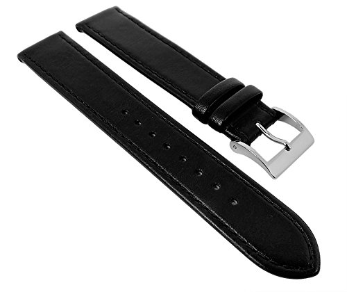 Junghans-MAX-BILL-Ersatzband-Uhrenarmband-Leder-schwarz-17mm-0273700