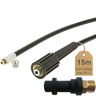 Rohrreinigungsschlauch-15m-200bar-60C-inkl-Dse-starr-inkl-Adapter-geeignet-fr-Hochdruckreiniger-Krcher-von-McFilter