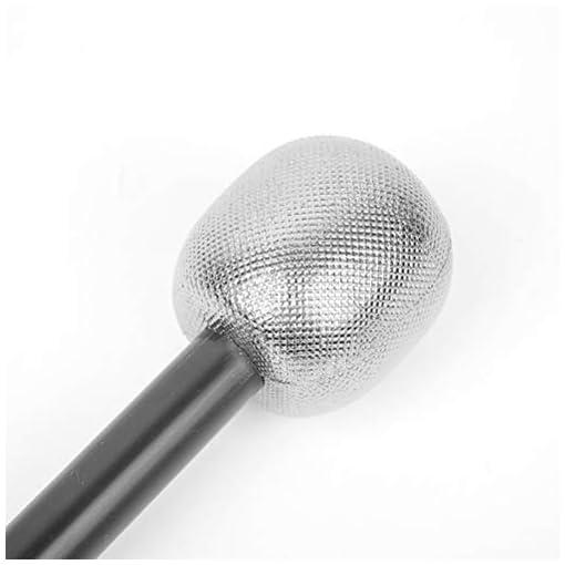 YeahiBaby-Mikrofon-Glitzer-fr-Halloween-Karneval-Fasching-Party-Kostm-Zubehr-6-Stcke-Silber