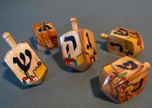 Chanukka-Kreisel-Kreisel-fr-Chanukkah-aus-Olivenholz-aus-Israel-Hanukkah-Dreydle-sewiwon