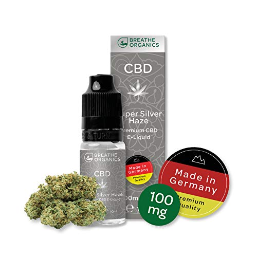 Premium CBD Liquid Super Silver Haze von Breathe Organics®   E Liquid ohne Nikotin mit 100 mg CBD   100% natürliche Terpene   Cannabidiol Liquid