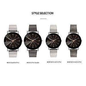 SO-buts-Unisex-SmartwatchLssige-Analog-Uhren-Armband-Mit-EdelstahlzifferblattMode-Unisex-WatchSpiegel-Konvexe-Uhr-ZA02-W
