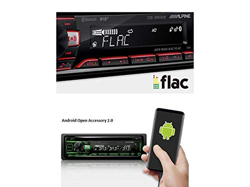Alpine-CDE-205DAB-1-DIN-Autoradio-mit-DAB-CD-USB-Bluetooth-inkl-Antenne-fr-VW-Beetle-5C1-5C7-ab-2011-Piano-Black