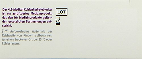 XLS-Medical Kohlehydrateblocker, 60 Tabletten, 1er Pack (1 x 60 Stück)