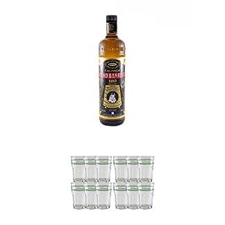 Velho-Barreiro-Gold-Cachaca-10-Liter-Velho-Barreiro-Caipirinha-Glas-6-Stck-Velho-Barreiro-Caipirinha-Glas-6-Stck