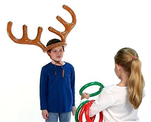 simplefirst-Ring-Toss-Spielzeug-fr-Weihnachten-Party-Toss-Spiel-aufblasbares-Rentier-Geweih-Hat-mit-Ringen
