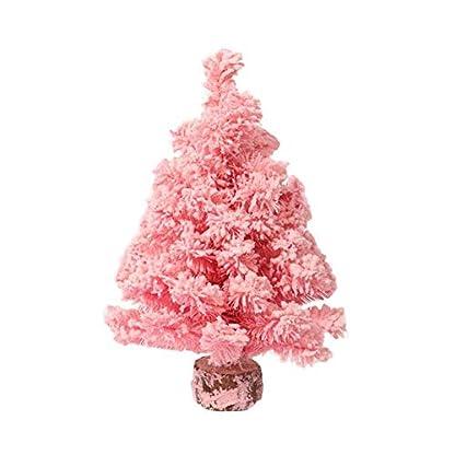 Ogquaton-Weihnachtsbaum-Dekoration-Rosa-Zeder-Bunt-Schneebedeckt-Mini-Tisch-Dekorativ-Weihnachtsbaum-Einkaufszentrum-Fenster-Anhnger-Beflockung-Dekorativ-Baum-Langlebig-und-ntzlich