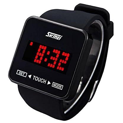 NEEKY-Herren-ArmbanduhrSportuhrenSmartwatchFr-Unisex-Fitness-Uhren-SchrittzhlerJungen-Mdchen-Sport-Watch-des-Touch-Screen-Digital-LED