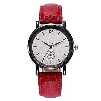 Godagoda-Damenuhr-Analog-Quarz-Armbanduhr-Casual-Elegant-Einfach-Mode-mit-Leder-Armband-und-Batterie-Uhr