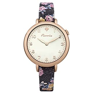 House-of-Florrie-Damen-Datum-klassisch-Quarz-Uhr-mit-Leder-Armband-HF001BRG
