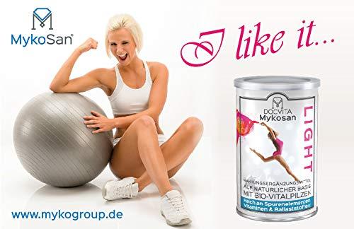 MykoSan Light 450g | Abnehmen mit Bio Vitalpilzen | Vitalpilz Pulver Mischung Reishi Maitake Hericium | Mahlzeitersatz| Vegan von DocVita