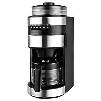 Team-Kalorik-TKG-CCG-1006-Kaffeeautomat-mit-Mahlwerk-750-Glas-Kunststoff-Edelstahl-Keramik-Schwarz