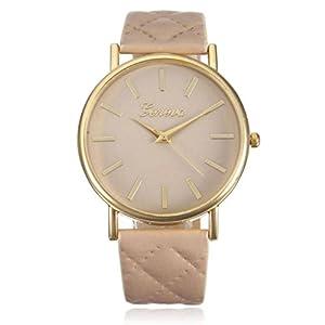Waymeduo-Damen-Armbanduhr-Elegant-Uhr-Modisch-Zeitloses-Design-Leder-Leder-analoge-Quarzuhr-Armbanduhr