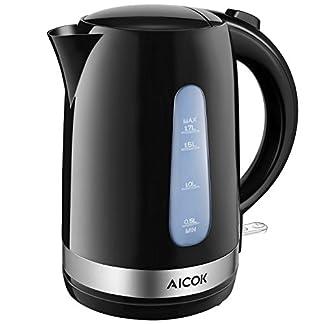 Aicok-Wasserkocher-17L-2200W-BPA-frei-Elektrischer-Wasserkocher-mit-Sichtfenster-Kabelloser-Cool-Touch-Griff-Klappdeckel-mit-groer-ffnung-Schwarz