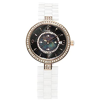 Stella-Maris-Damen-Armbanduhr-Analog-Quarz-Uhr-Stilvolle-Elegante-Damenuhr-Frauenuhr-Wei-Gold-Premium-Keramik-Armband-Diamanten-Swarovski-STM15SM9