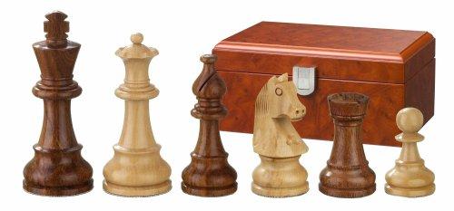Philos-2063-Schachfiguren-Sigismund-Knigshhe-76-mm-gewichtet-in-Figurenbox