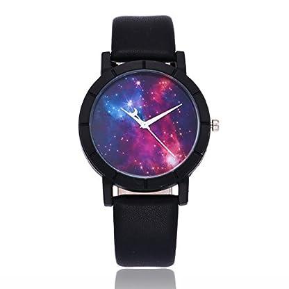 MJARTORIA-Damen-Armbanduhr-Galaxy-Mode-Analog-Quarz-Damenuhr-Lederarmband-Schwarz-24cm