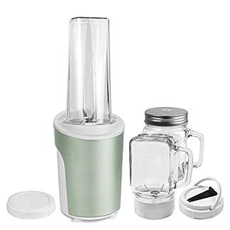 Venga-VG-BL-3009-2-in-1-Standmixer-und-Smoothiemaker-450-Kunststoff-Edelstahl-Glas-600-milliliters-MinzeGrn