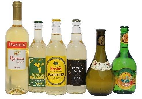 6x-beliebter-Retsina-aus-Griechenland-Tsantali-Malamatina-Kourtaki-Gold-Georgiadi-Kechribari-im-Probier-Set-geharzter-Weiwein-Spar-Test-Set-6-Flaschen-Wei-Wein-2-Probiersachets-a-10-ml-Olivenl-von-Kre
