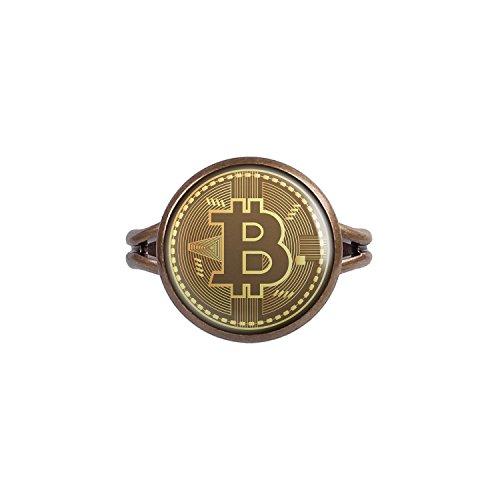 Mylery Ring mit Motiv Bit-Coin Krypto-währung Münze bronze verschiedene Größen