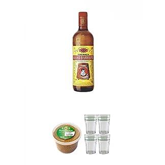 Velho-Barreiro-Silver-Cachaca-Originalabfllung-07-Liter-Sarkara-brauner-Rohrzucker-fr-Cocktails-10-Kg-Velho-Barreiro-Caipirinha-Glas-4-Stck