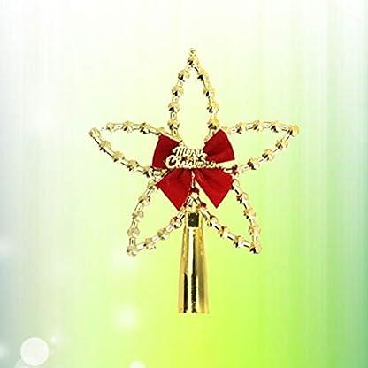 Amosfun-3pcs-Weihnachtsbaum-Stern-Christbaumspitze-Stern-Glitzernde-Baumschmuck-Weihnachtsdeko-Gold