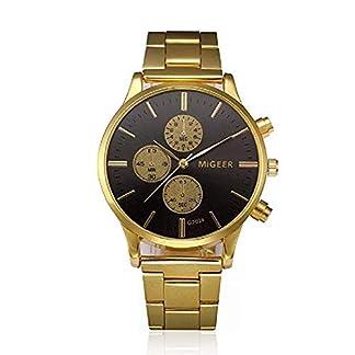 Mode-Uhr-ICHQ-Herren-Kristall-Edelstahl-analoge-Quarz-Business-Uhr