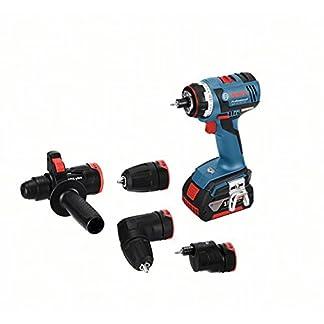 Bosch-Professional-Akkuschrauber-GSR-18-V-EC-FC2-2x-40-Ah-Akku-Ladegert-Bohrfutter-Winkel-Exzenter-SDS-plus-Hammeraufsatz-L-BOXX-18-Volt-Max-Drehmoment-50-Nm-max-Schraub–10-mm