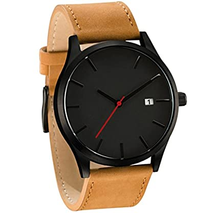 HARRYSTORE-Mnner-populre-Low-Key-Minimalistische-Konnotation-Leder-Herren-Quarz-Armbanduhr-mit-Datum-Display