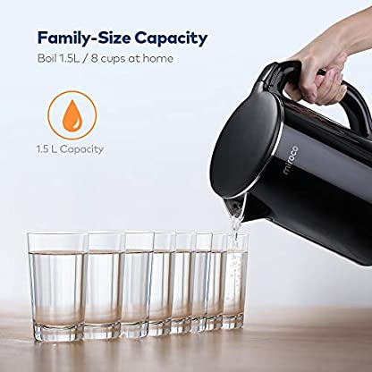 Miroco-Wasserkocher-Elektrischer-Wasserkessel-15L-Edelstahl-Teekessel-2150W-Elektrische-Kanne-Trockengehschutz-BPA-Frei-Schwarz