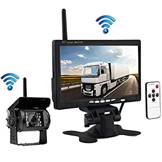 Wus-Wireless-Rckfahrkamera-Kit-mehrere-Mglichkeiten-Nachtsicht-Parkkamera-WiFi-Anschluss-Einparkhilfe-mit-7-Zoll-Display-wasserdicht-Bus-RV-LKW-Anhnger